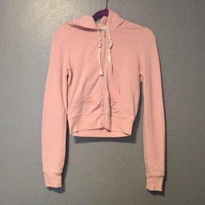 Baby Pink Full Zip Thin Hoodie